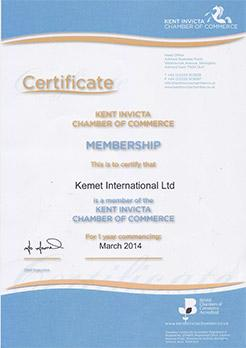 Chamber of Commerce Certificate